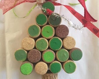 Christmas Ornament, Cork Ornament, Wine Cork Ornament, Wine Cork Crafts
