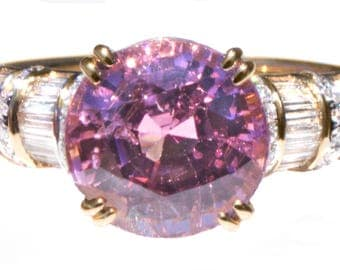 RARE Bubblegum Pink Natural Spinel & Diamond Ring