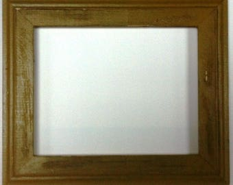 "1-3/4"" Gold Distressed Picture Frame"