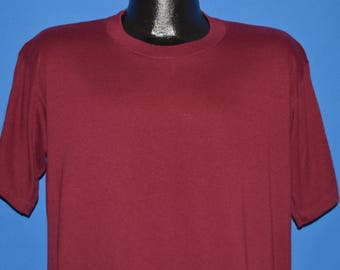 80s Jerzees Maroon Red Blank t-shirt Extra Large