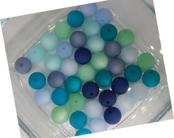 24 Original POLARISPERLEN 12 mm mix sea Colours Aqua Blue green Polaris 8 Colors