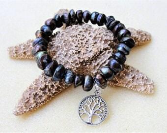 Mala Bracelet,Yoga Bracelet,Mens Jewelry,Tree of Life Bracelet,Stretch Bracelet,Mens Bracelet,Yoga Bracelet,Gift for Him,Yoga Jewelry,Yoga