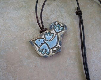 Blue Bird EO Diffuser Pendant, Bird Pendant, Birdie Pendant, Perfume Necklace, Natural Medicine Necklace, EO Diffuser Jewelry