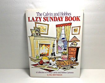1989 The Calvin and Hobbes Lazy Sunday Book by Bill Watterson    Sunday Cartoons