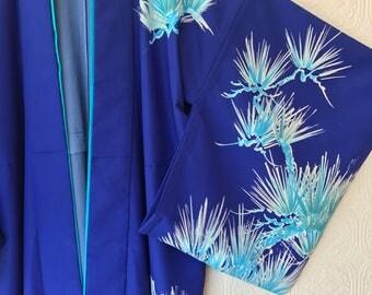 Silk Frond Print Kimono