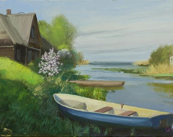 A Boat By The Riverside