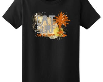 Cool Gift for Surfer Eat Surf and Be Happy Ladies T-Shirt 2000L - WRV-85