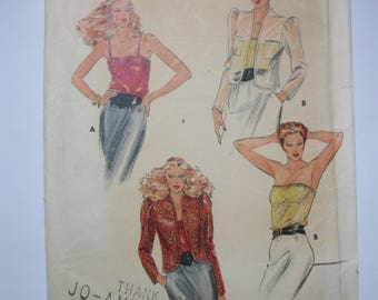 Butterick 3488 Misses size Medium (12-14) jacket and camisole