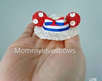 Minnie Mouse Hat Clip