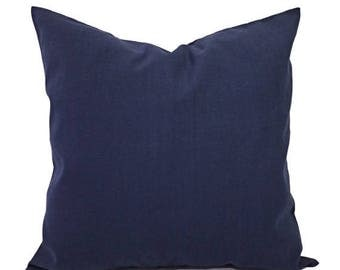 15% OFF SALE Solid Pillow Covers - Navy Couch Pillow Covers - Two Navy Throw Pillow Covers - Navy Blue Pillow Covers - Decorative Pillow - N