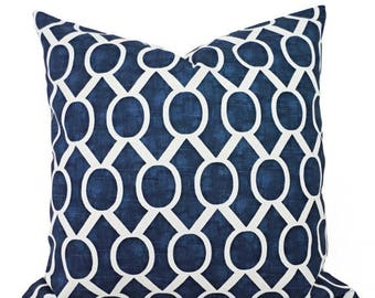 15% OFF SALE Two Navy Blue Decorative Pillows - Two Navy Throw Pillow Covers - Navy Geometric Pillow - Navy Accent Pillows - Decorative Pill