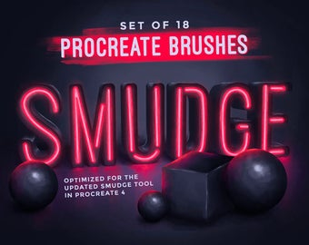 Smudge Procreate Brushes , Digital Drawing brushes,  Set of 18 brushes,  For the iPad app Procreate , Digital smudging brushes