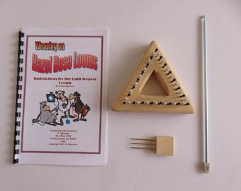 """Hazel Rose Loom Kit - Equilateral Triangle - 3.5"""" - Maple"""