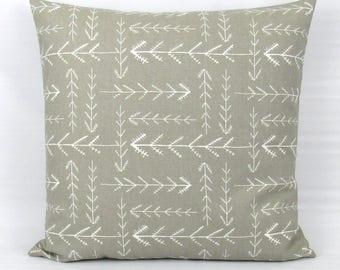 Taupe Pillow Cover, Tan Pillow, GrayThrow Pillow Cover, Decorative Pillow Cover, Lumbar Pillow Cover, Driftwood, Zipper