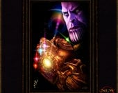 """Avengers: Infinity War Inspired """"Thanos"""" Signed and Limited Edition Artist Proof by Herofied"""