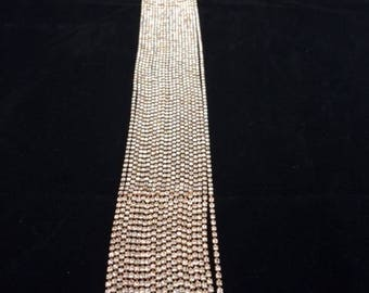 Long, Rhinestone Necklace