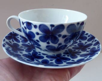 "Vintage 1950s MARIANNE WESTMAN. Coffee Cup and Saucer Rörstrand Sweden. ""Mon Amie"" Pattern"