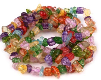 Glass beads, 5-10 mm, 90 cm (1430)