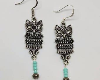 Earrings - Owl