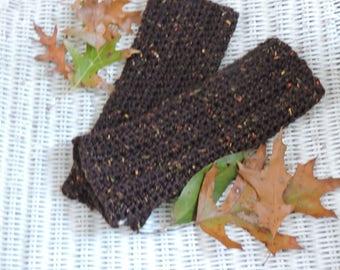 Fingerless Brown Gloves, Hand Warmers, Fingerless Gloves, Crochet Arm Warmers, Winter Accessories