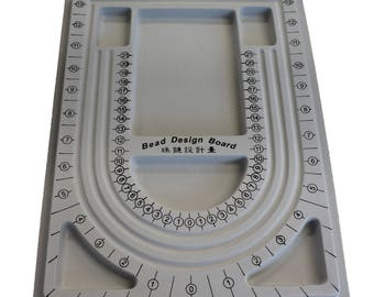 Gray Flocked Plastic Beading Board,  Size: about 24cm wide, 33cm long, 1cm thick