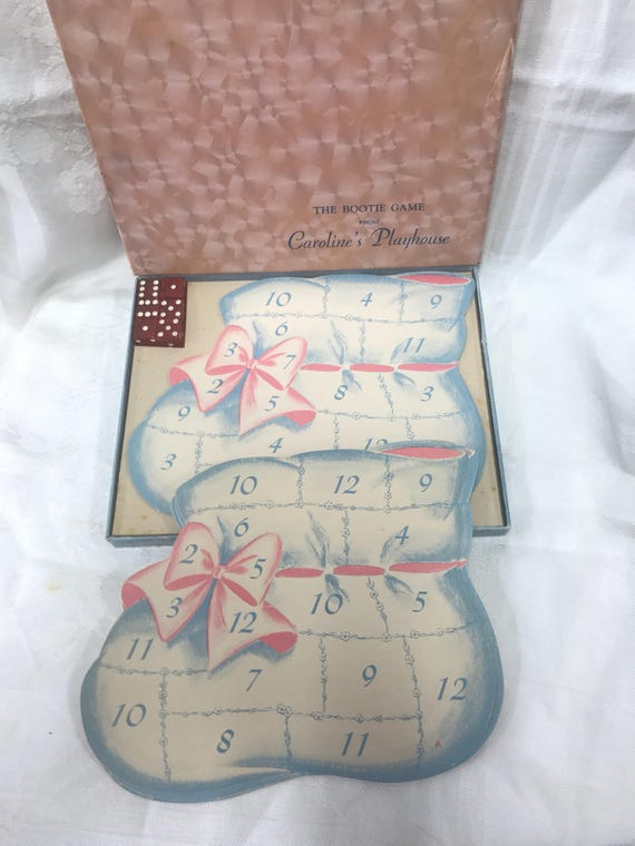 Bootie Game Baby shower game from 1947