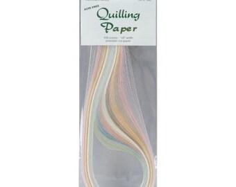 """Quilling Paper .125"""" 108/Pkg-Parchment (9 Colors)"""
