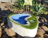 Palm Springs Share Bowl - Green Pool Sign