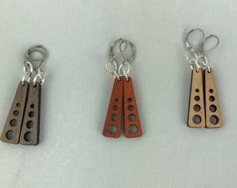 4 Hole Wooden earrings