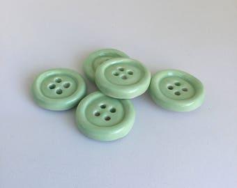 """Ceramic 1"""" buttons homemade"""