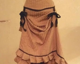 Steampunk Victorian Adjustable Cinch Skirt size Large