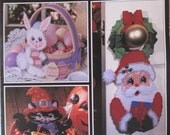Holiday Fancies in Plastic Canvas  by Virginia & Micheal Lamp  Used 23 pages 1995 good condition