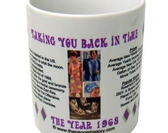 1968 Year In History Coffee Mug - 50th Birthday