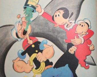 1979 edition of a Wonder Book from 1958 - Popeye Goes On A Picnic (Olive Oyl, Swee'pea, wimpy too!)