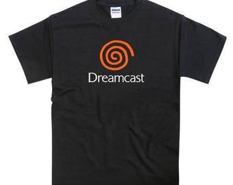 ON SALE Dreamcast Console Orange Swirl Tribute Tshirt