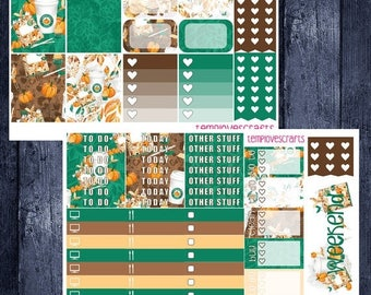 Weekend Sale Pumpkin Spice and Everything Nice Kit for Erin Condren Life Planner Vertical Layout