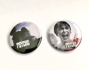 Psycho Pinback Button 2 Pack