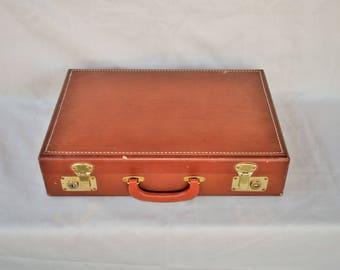 Vintage U.S. Government Men's Leather Attache Case