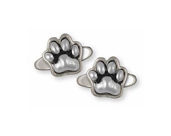 Dog Paw Cufflinks Jewelry Sterling Silver Handmade Dog Cufflinks PZ3-CL