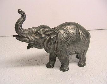 Elephant Figurine, Cast Metal Elephant, Germany
