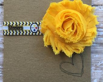 Pittsburgh Steelers Shabby Flower Headband
