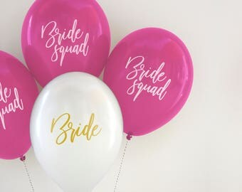 Bride Squad party balloon packs
