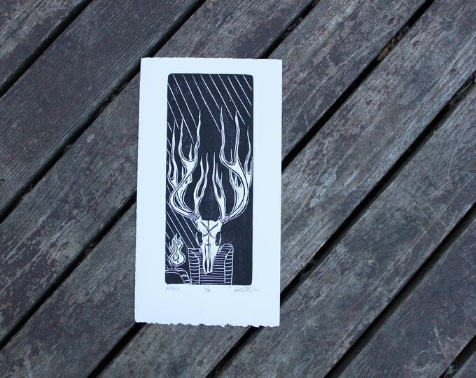 Angst Skeleton Small Edition Print