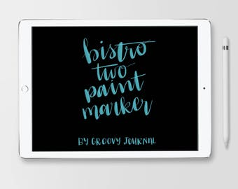 Bistro 2 Paint Marker Brush for Procreate
