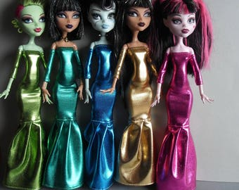 Metalic  Clothes for Monster High Doll