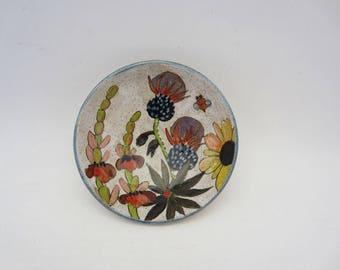 Flowers & Pigment Condiment Bowl