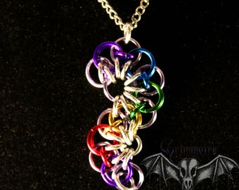Rainbow Chainmail Pendant