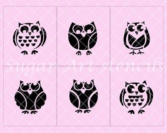 Owls cookie stencils set of 6  SL2059