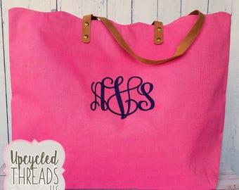 Monogram Tote, Gift For Her, Monogram Tote, Shoulder Bag, Beach Bag, Monogrammed Bag, Bridesmaid Gift, Tote, Bridal Shower, Shoulder Bag