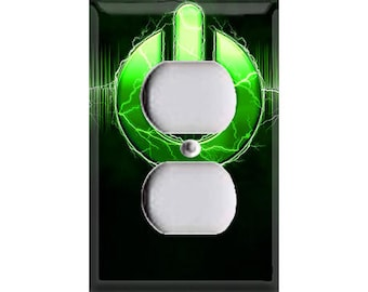 Power Button-Green Outlet Cover